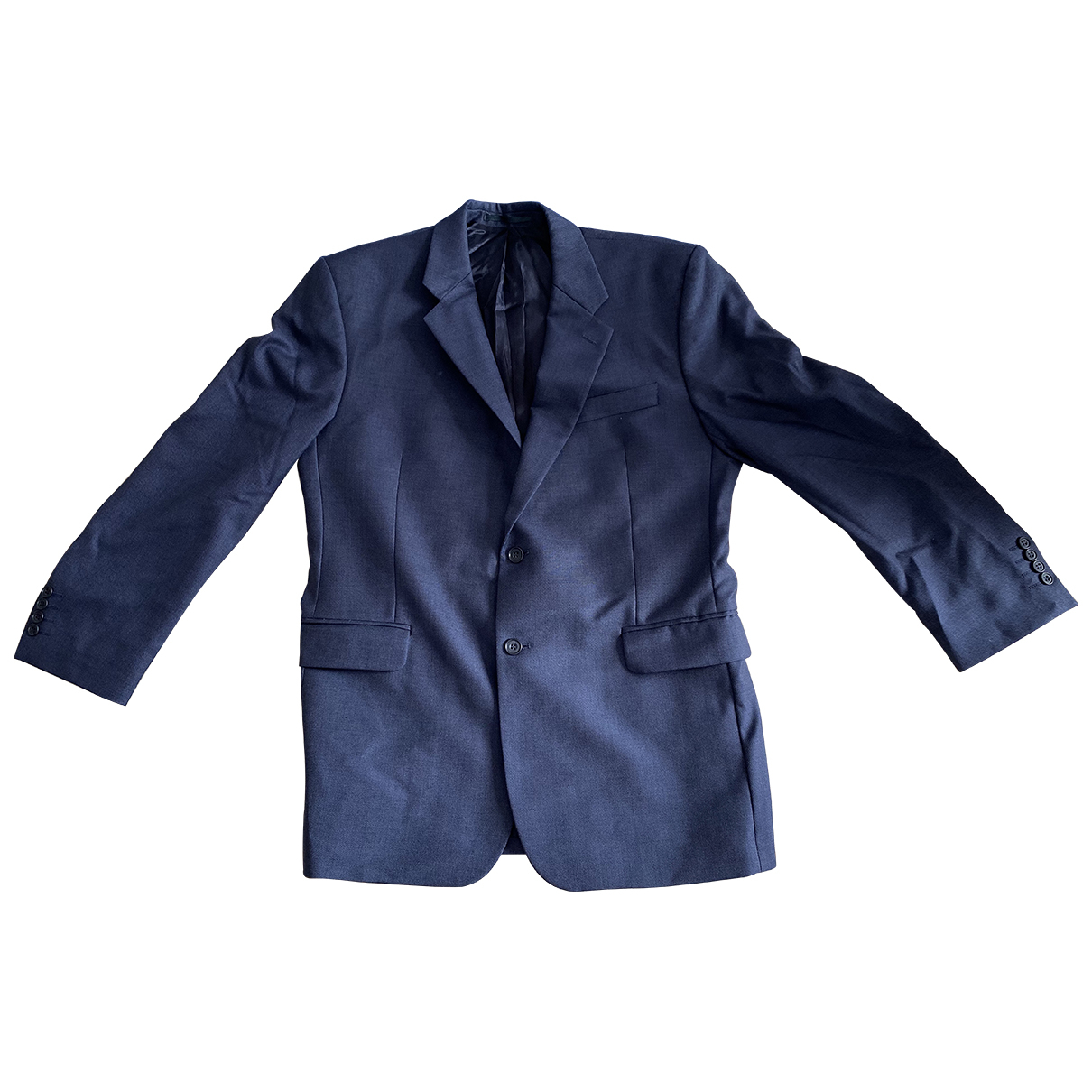 Non Signé / Unsigned \N Navy Wool Suits for Men 42 UK - US