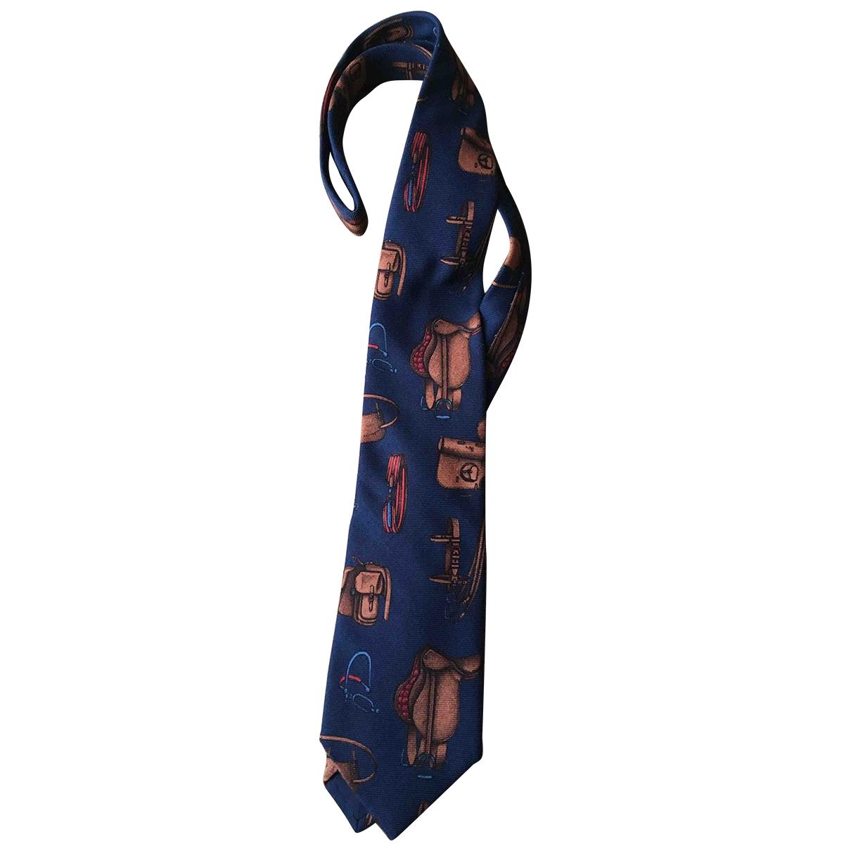 Etro - Cravates   pour homme en laine - bleu