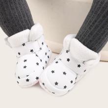 Baby Jungen Stiefel mit Stern Muster und Klettverschluss