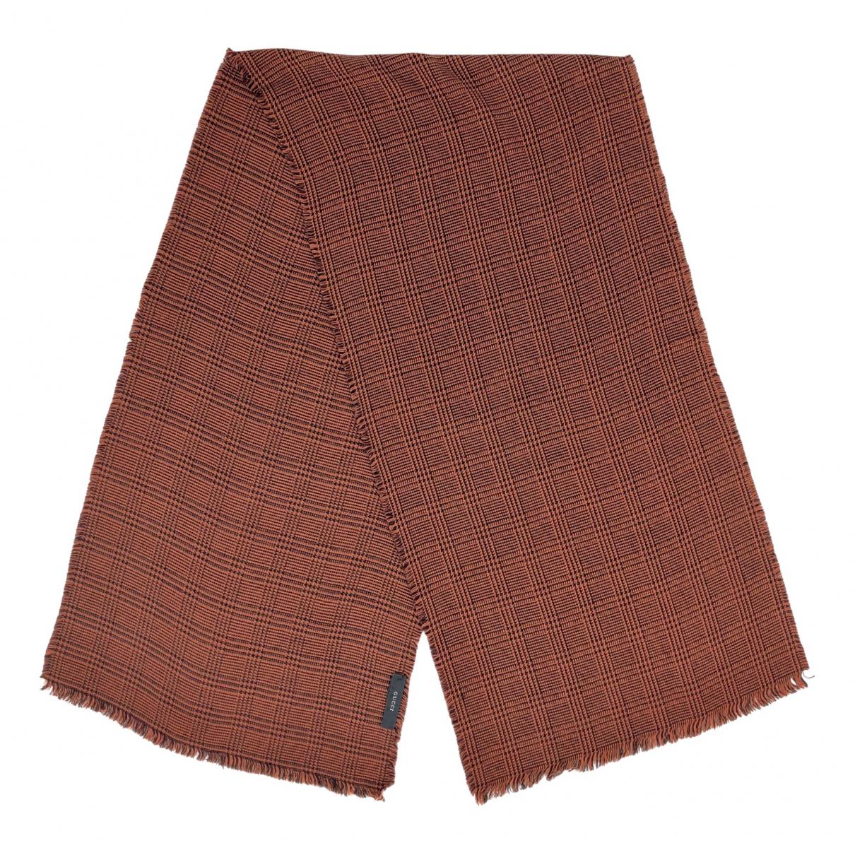 Gucci \N Schal in  Braun Wolle