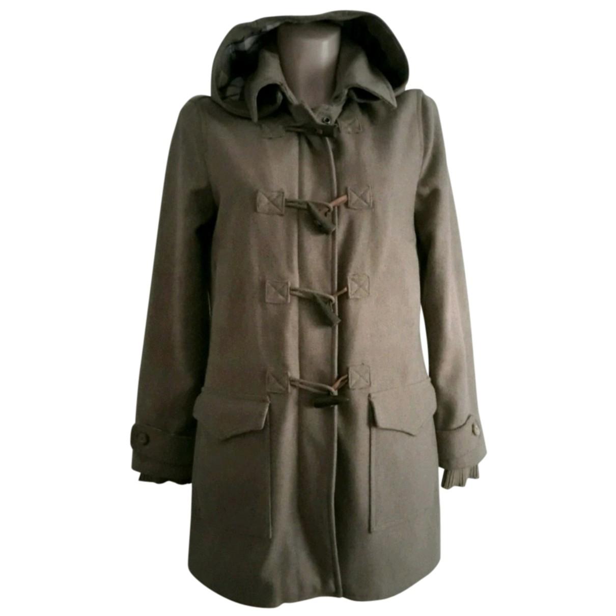 Massimo Dutti - Manteau   pour femme en laine - beige