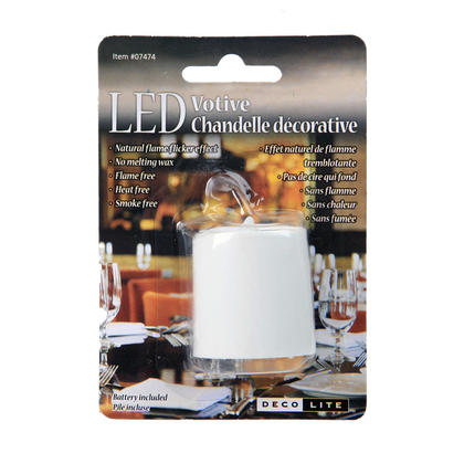 Flameless Candles LED Flickering Votive Candles, Battery Operated Tea Candles, White