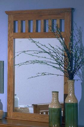 Carolina Oak 236500 51 x 28 Vertical Mirror with Hardwood Frame Construction in Golden