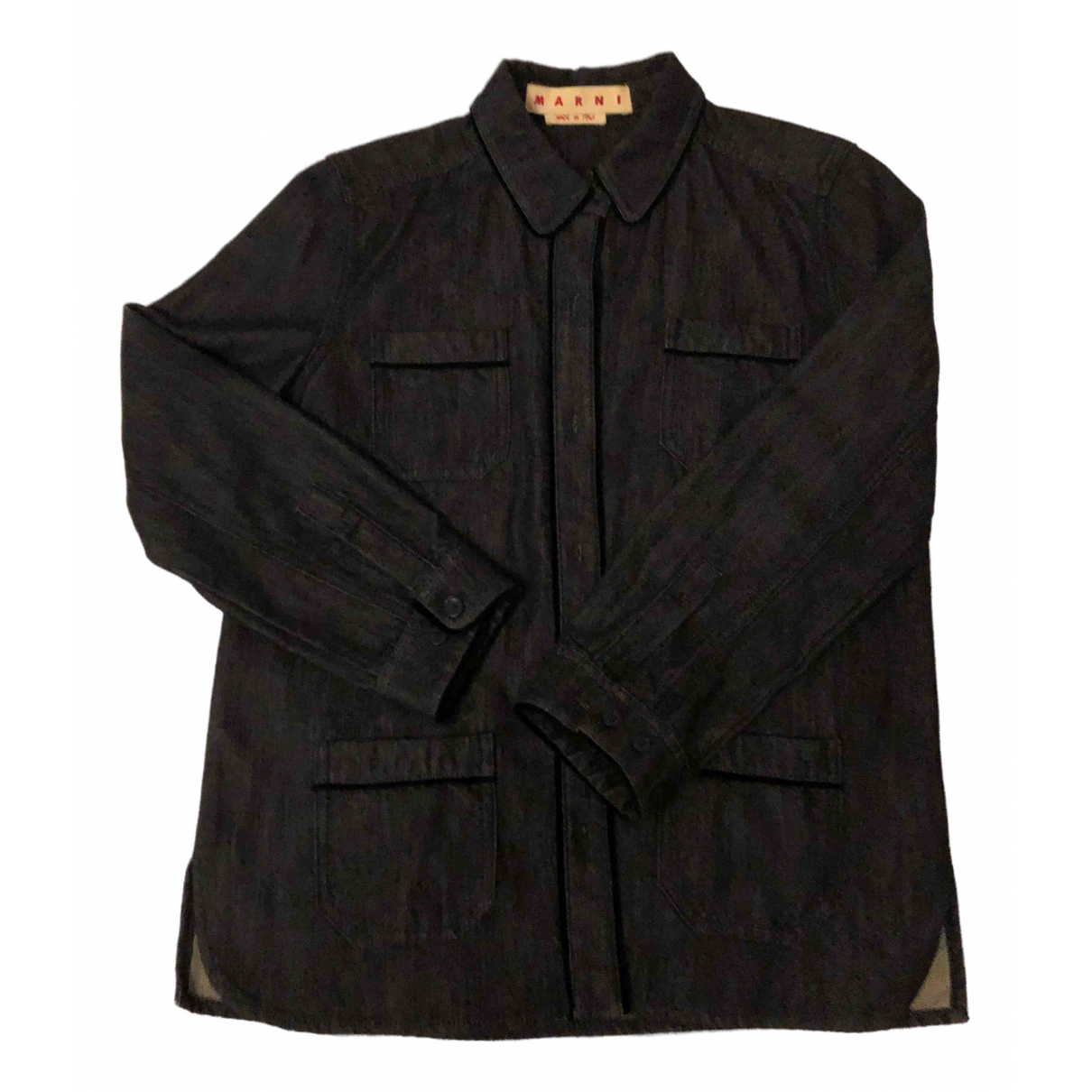 Marni \N Black Denim - Jeans jacket for Women 42 IT