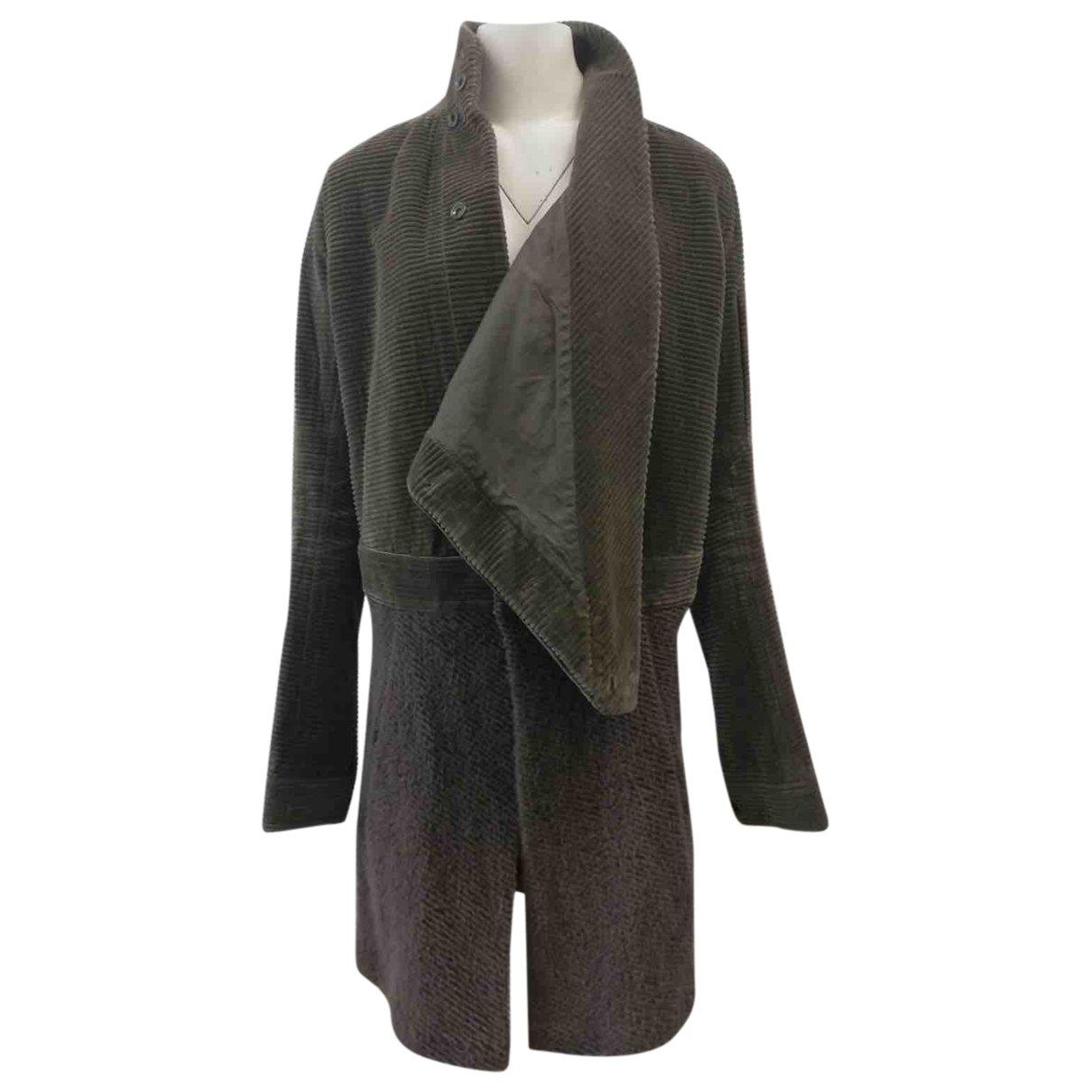 Rick Owens \N Brown Velvet coat  for Men M International