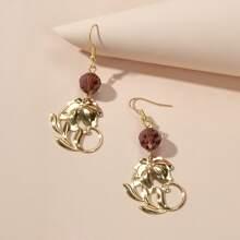 Ohrringe mit Perlen Detail und Blumen Dekor