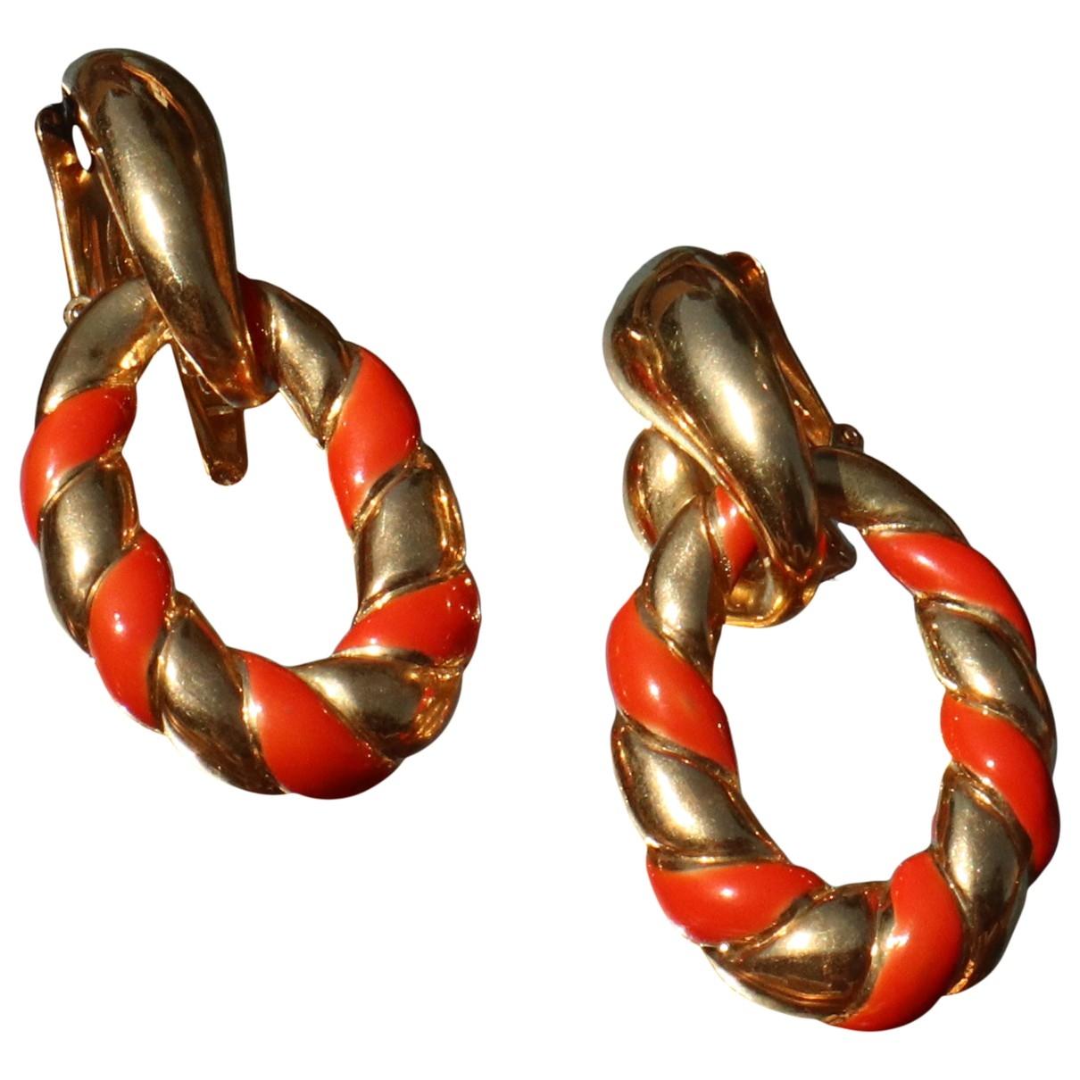 Valentino Garavani - Boucles doreilles   pour femme en metal - rouge