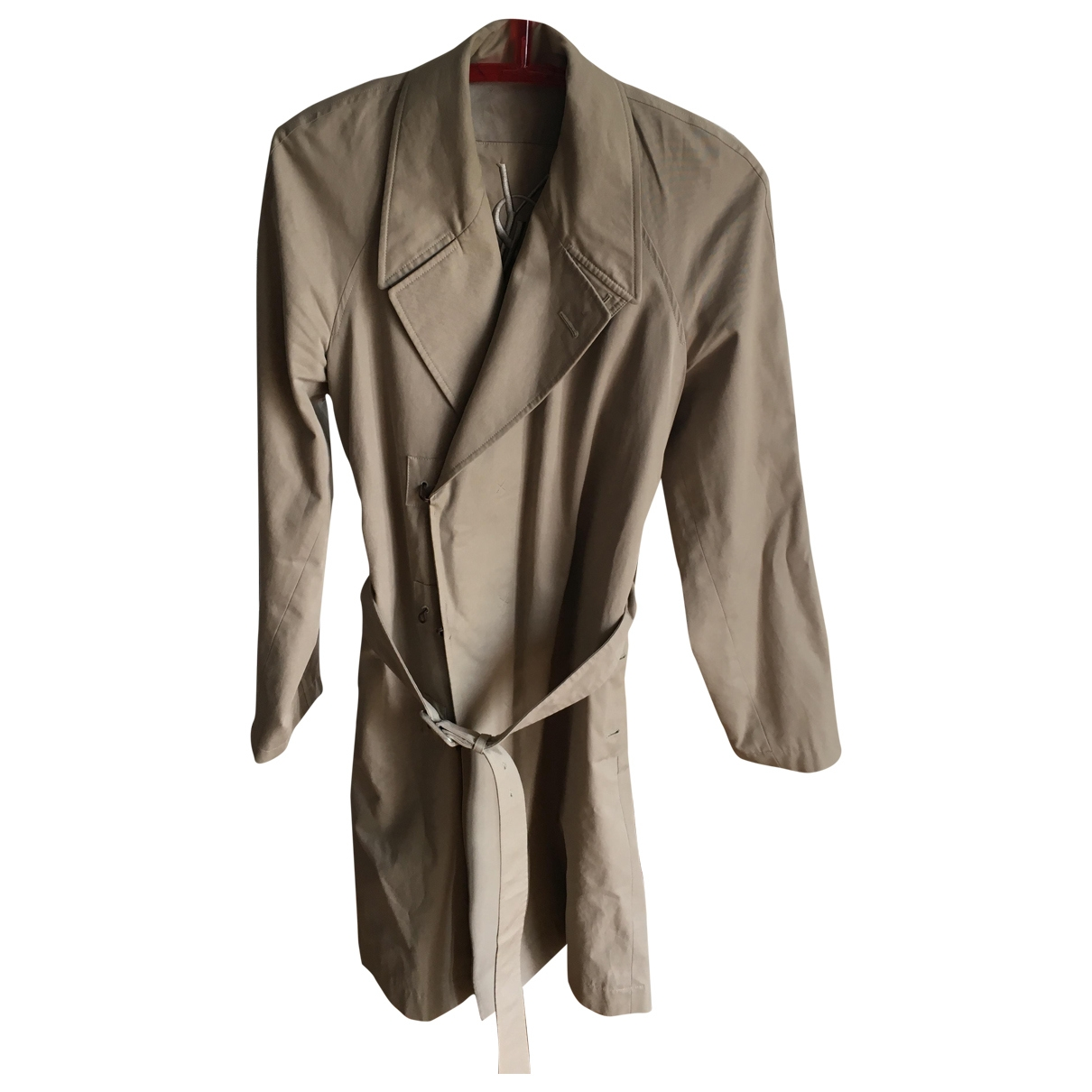 Yves Saint Laurent - Manteau   pour homme en coton - beige