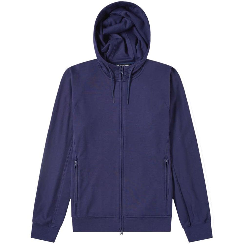 Y-3 Classic Logo Zip Hoodie Colour: YOHJI BLUE, Size: EXTRA LARGE