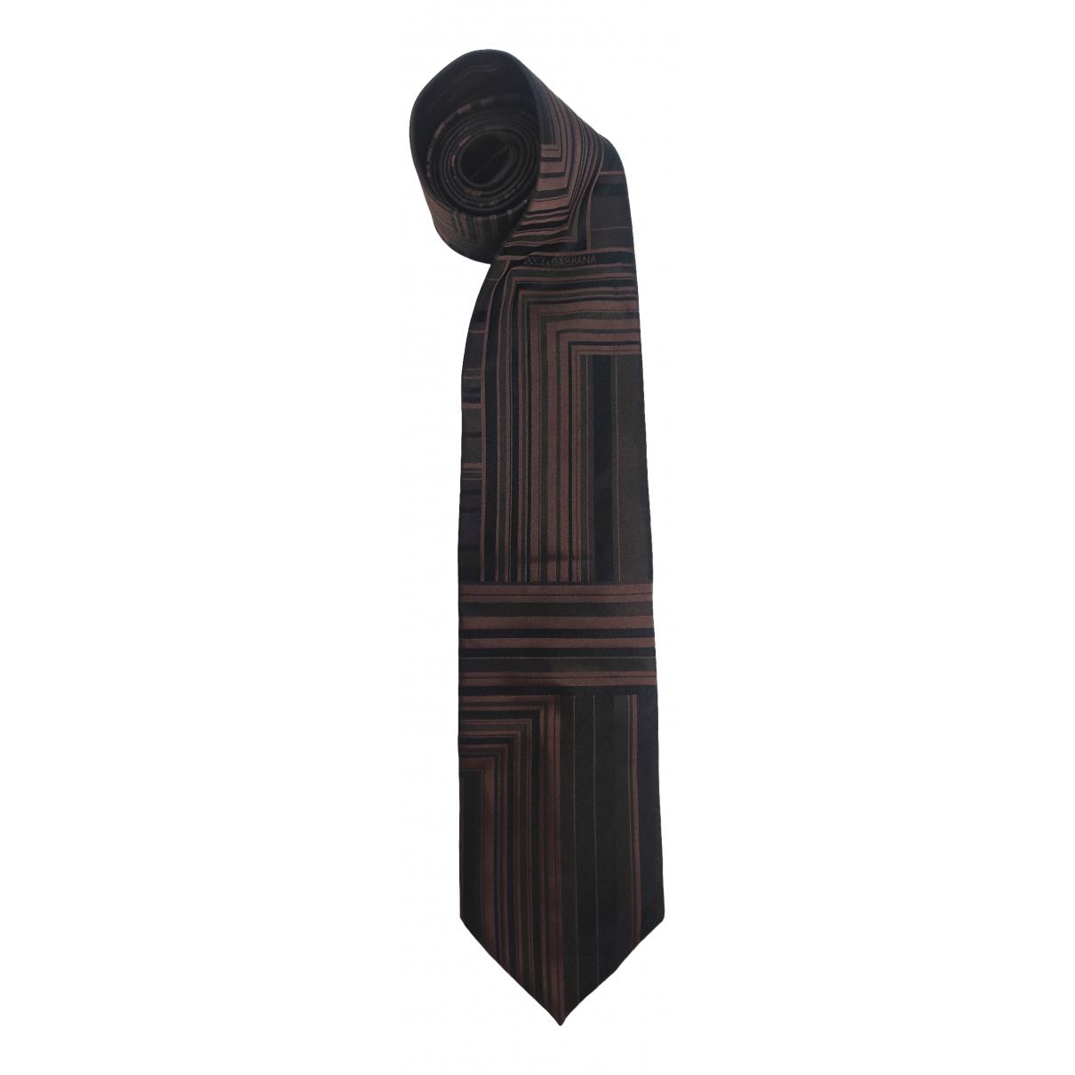 Dolce & Gabbana \N Brown Silk Ties for Men \N