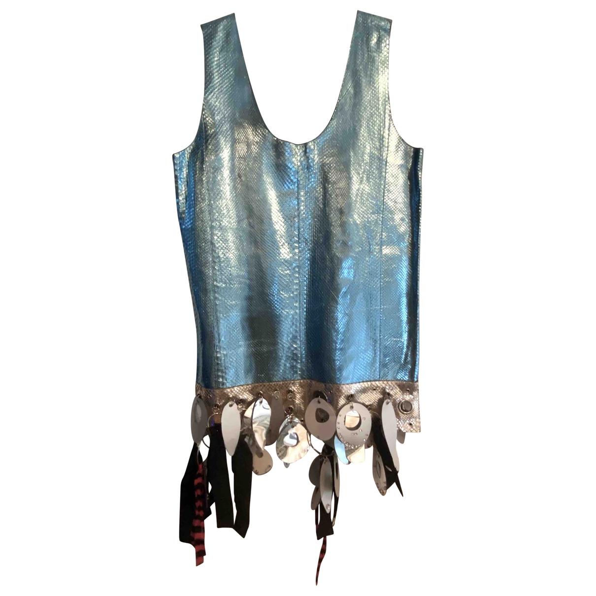 Miu Miu \N Kleid in  Blau Python