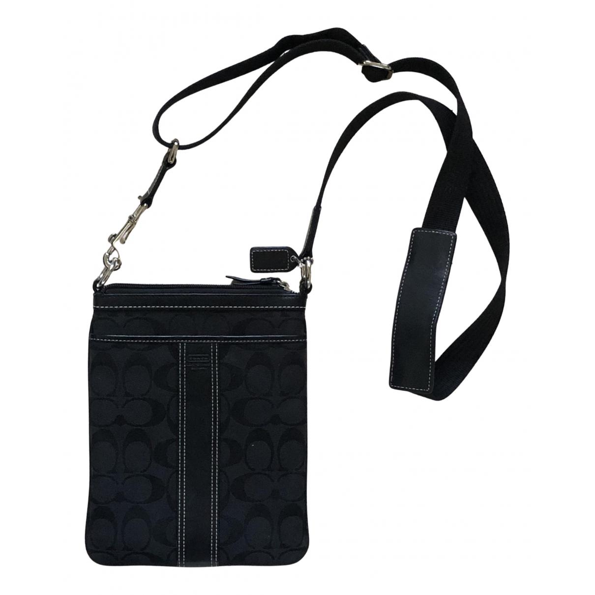 Coach N Black Cloth Small bag, wallet & cases for Men N