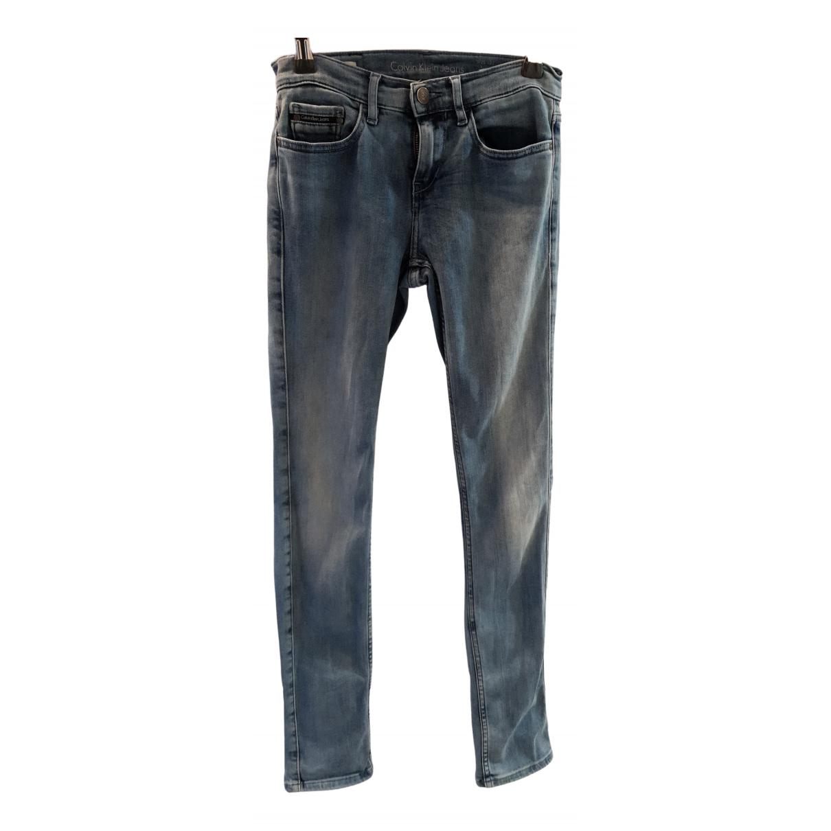 Calvin Klein - Pantalon   pour enfant en denim - bleu