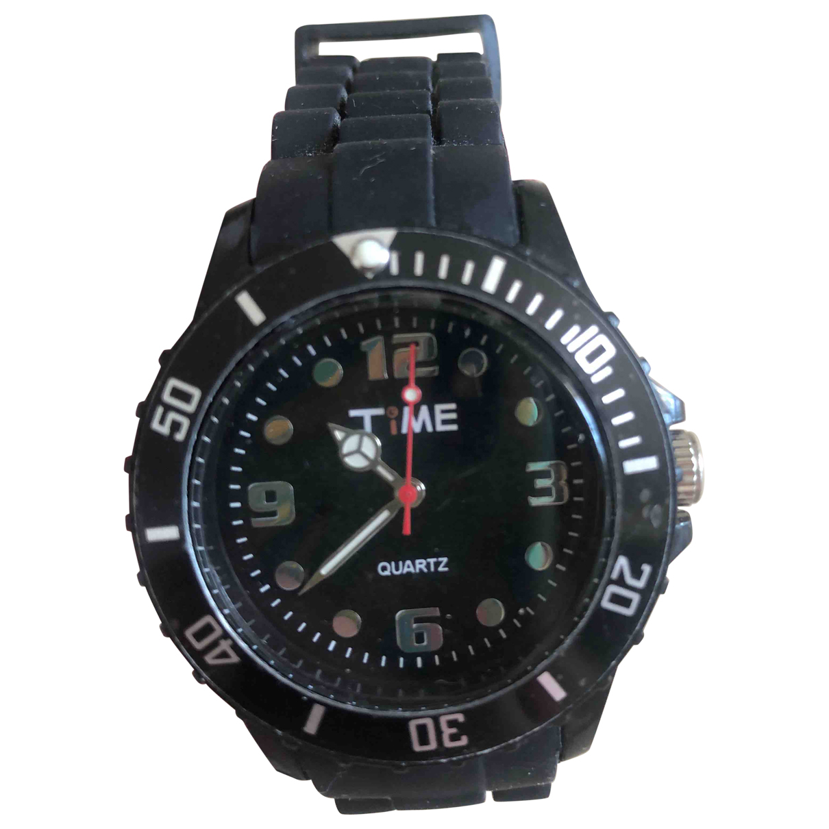 Quartz Co \N Uhr in  Schwarz Stahl