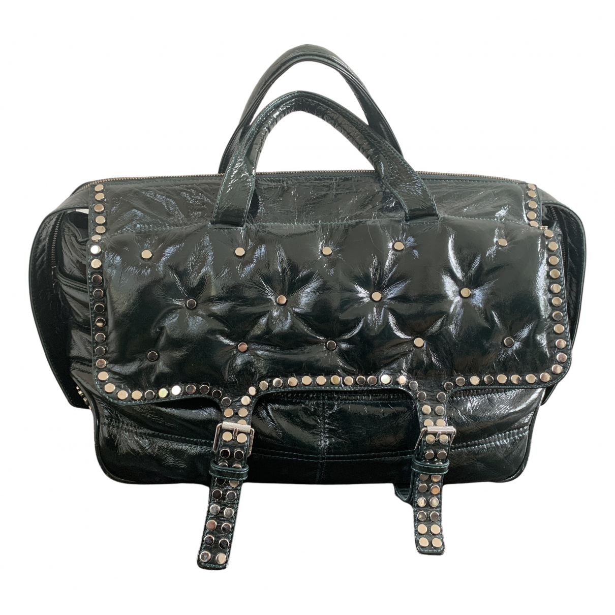 Zadig & Voltaire \N Green Patent leather handbag for Women \N