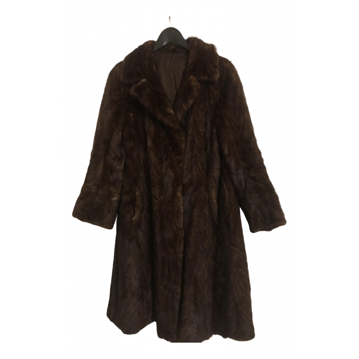 Non Signé / Unsigned N Brown Mink coat for Women 38 IT