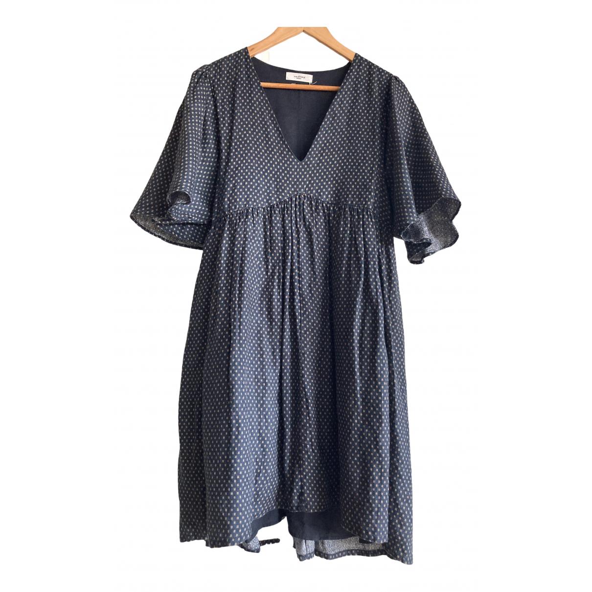Isabel Marant Etoile \N Blue Linen dress for Women 38 FR