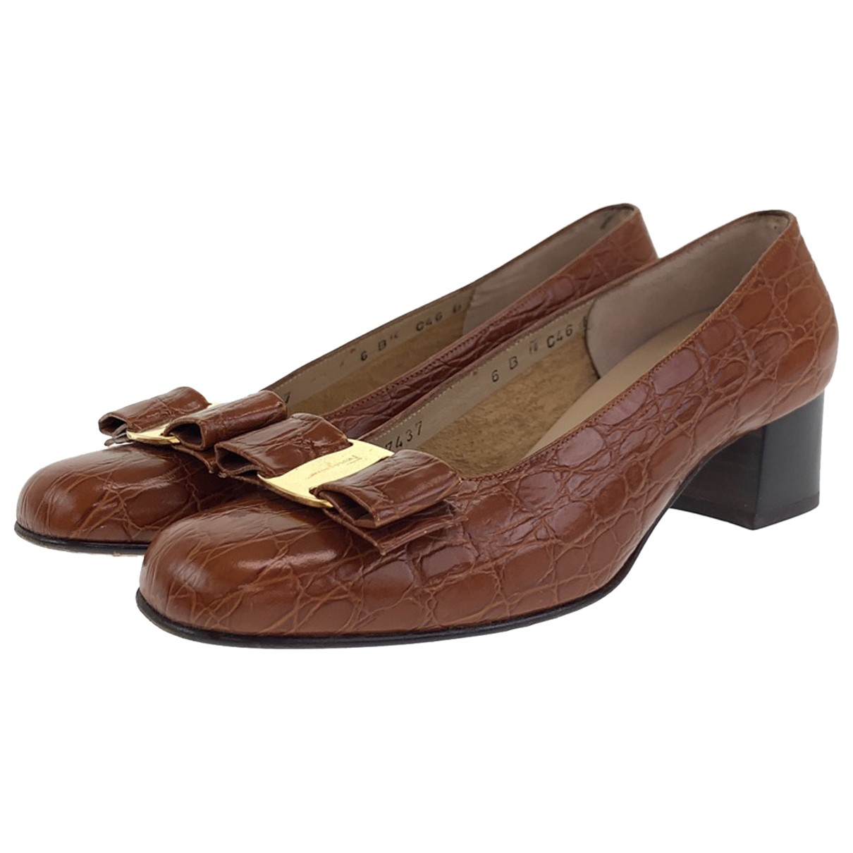 Salvatore Ferragamo N Brown Leather Heels for Women 6 US