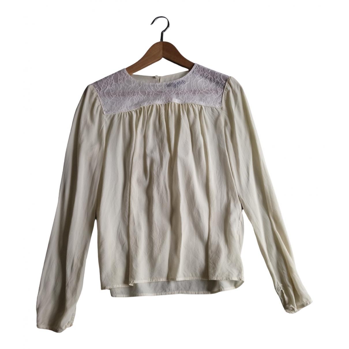 Maje - Top   pour femme en soie - beige