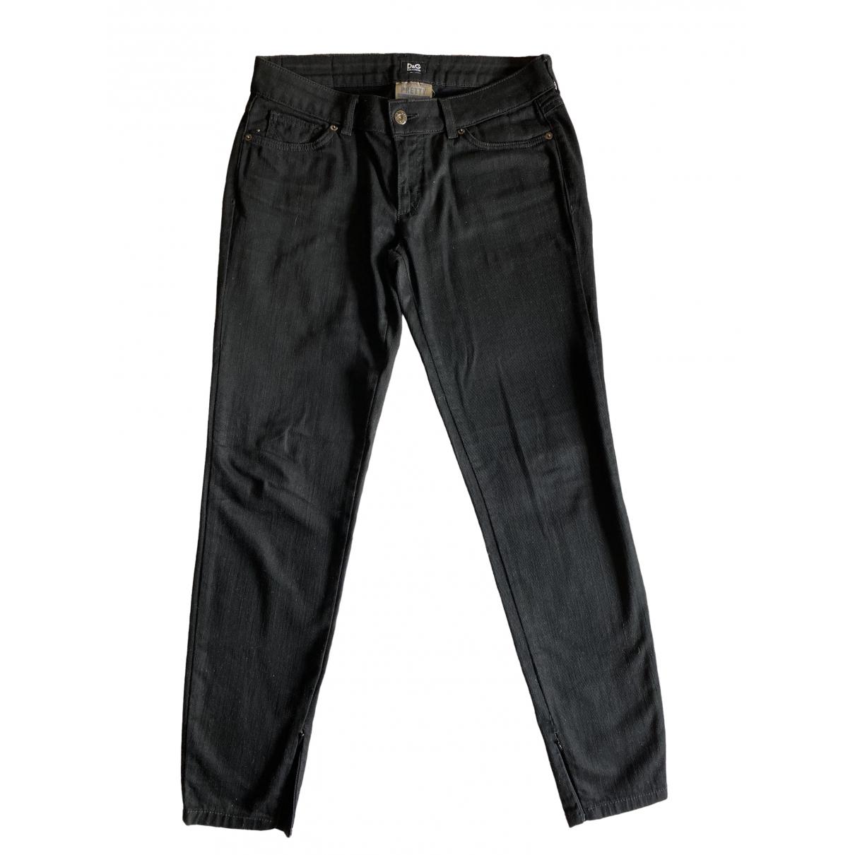 D&g \N Black Cotton Jeans for Women 31 US