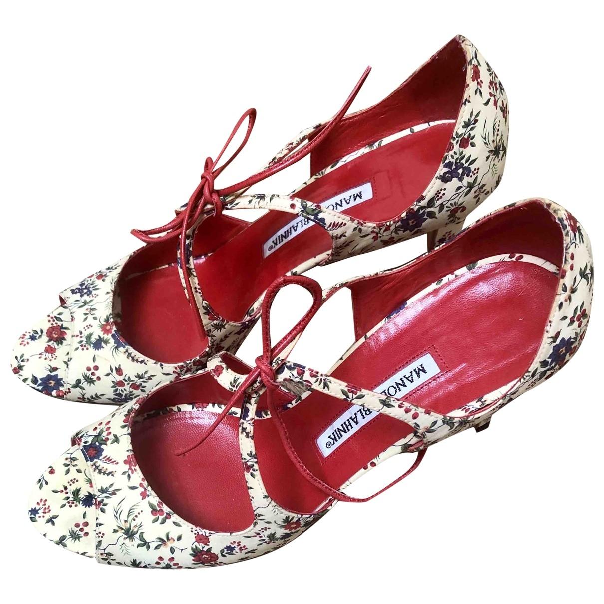 Manolo Blahnik \N Multicolour Cloth Sandals for Women 39 EU