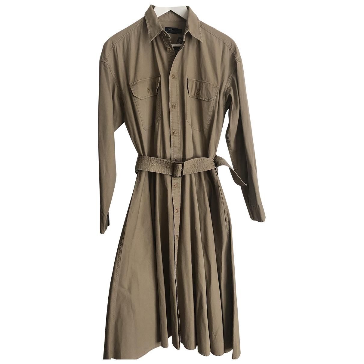Polo Ralph Lauren \N Kleid in  Beige Baumwolle