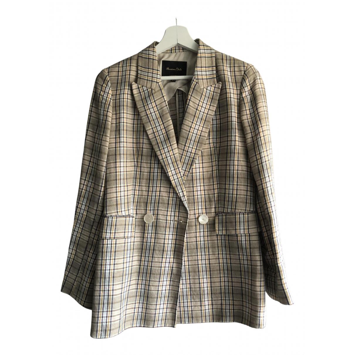 Massimo Dutti \N Beige Cotton jacket for Women 36 FR