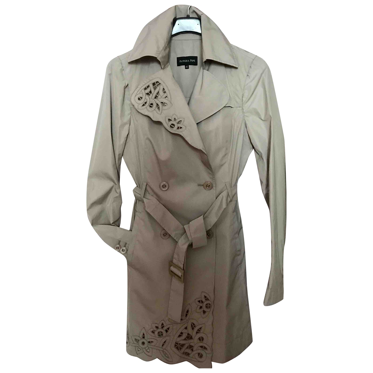 Patrizia Pepe \N Trench in  Beige Polyester