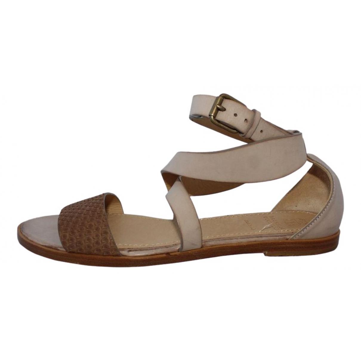Brunello Cucinelli \N Beige Python Sandals for Women 39.5 EU
