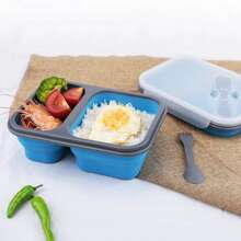1pc Foldable Silicone Lunch Box