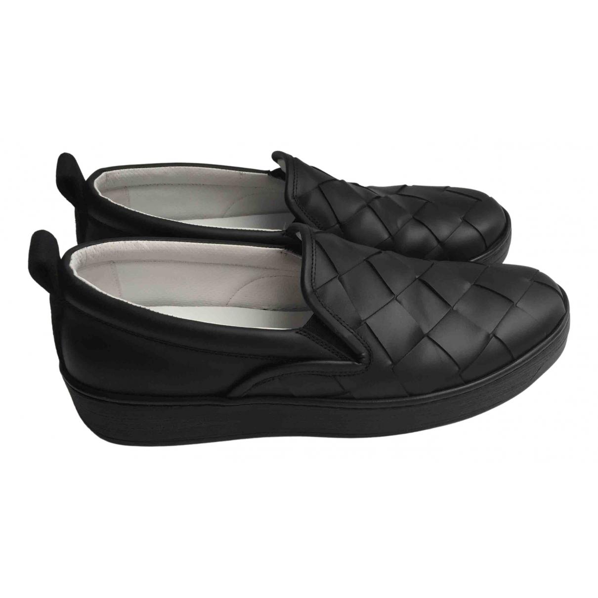 Bottega Veneta - Baskets   pour homme en cuir - noir
