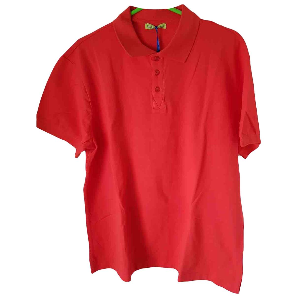 Versace Jean - Polos   pour homme en coton - orange