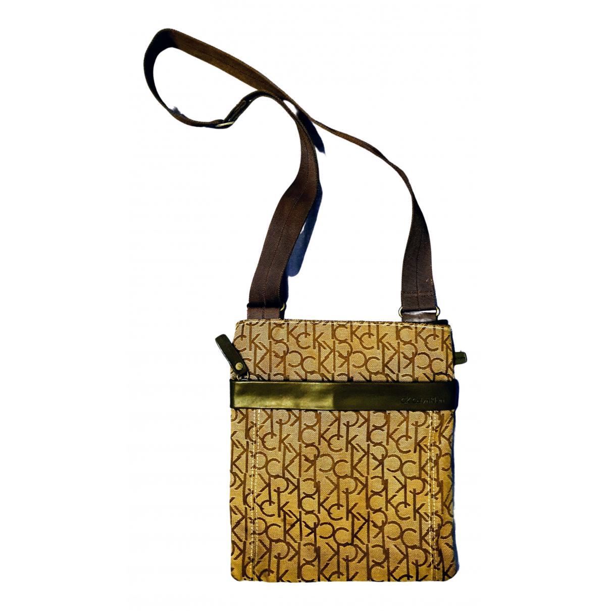 Calvin Klein N Brown Cloth handbag for Women N