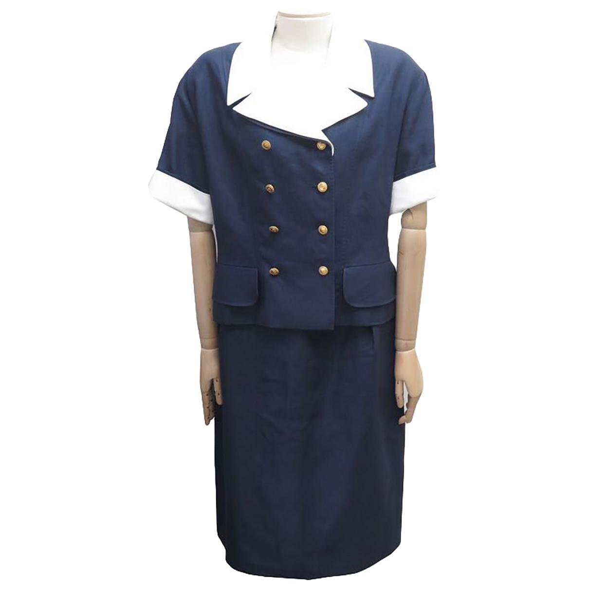 Chanel - Top   pour femme en coton - marine