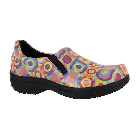 Easy Works By Easy Street Womens Round Toe Bind Clogs, 12 Medium, Multiple Colors