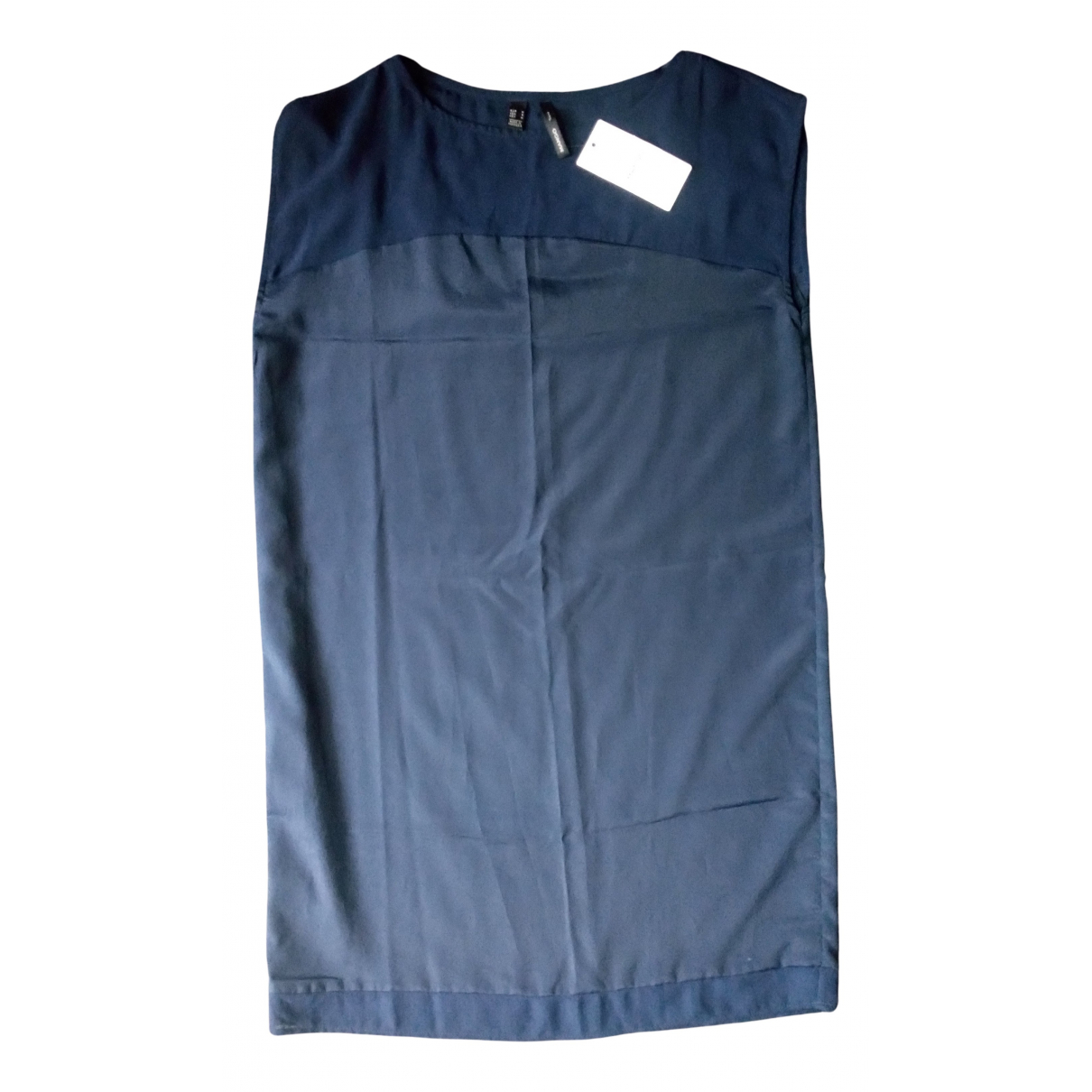 Mango - Robe   pour femme - bleu