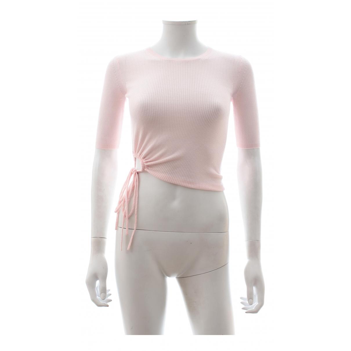 T By Alexander Wang - Top   pour femme en laine - rose