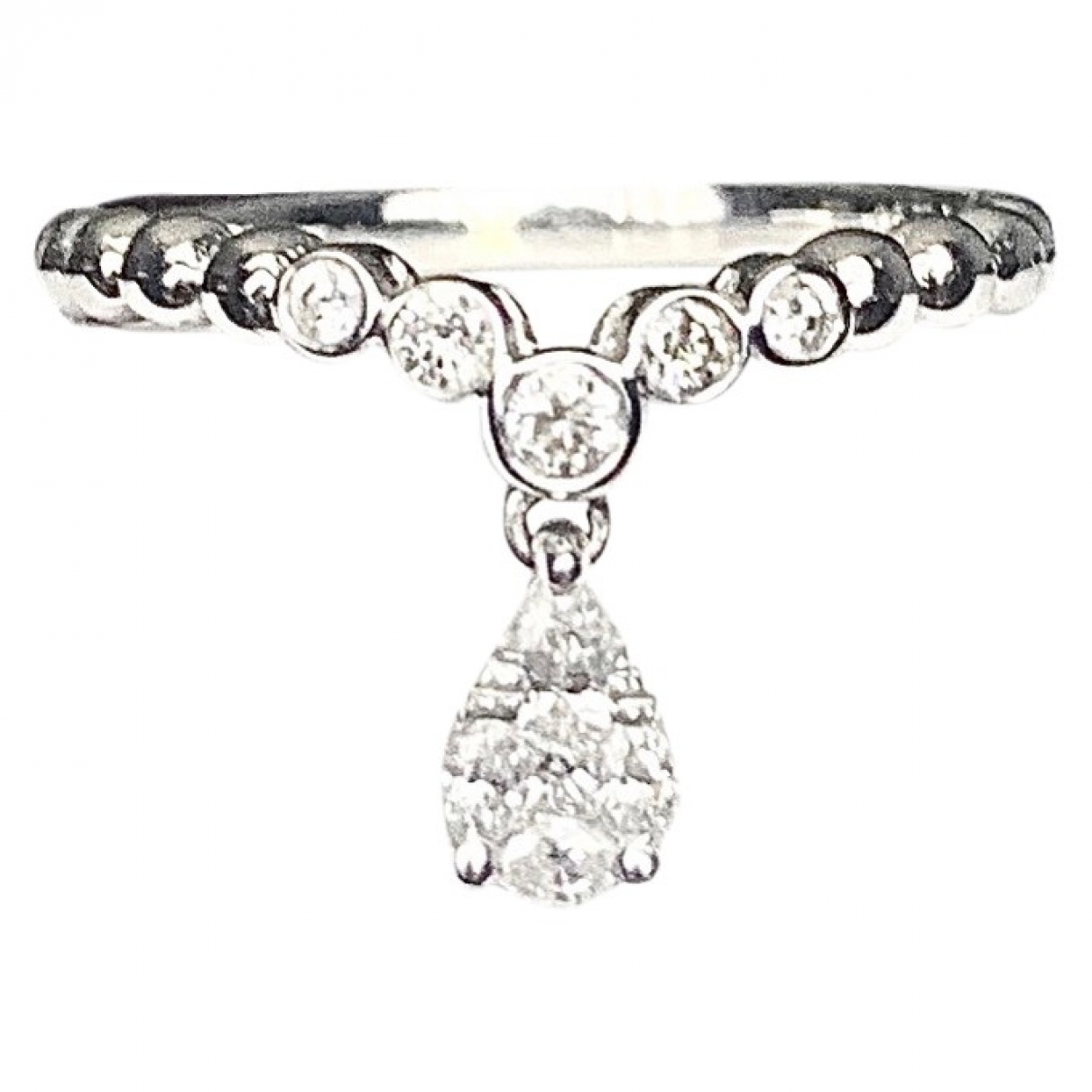 Non Signé / Unsigned Bagues Cocktails White White gold ring for Women 55 EU