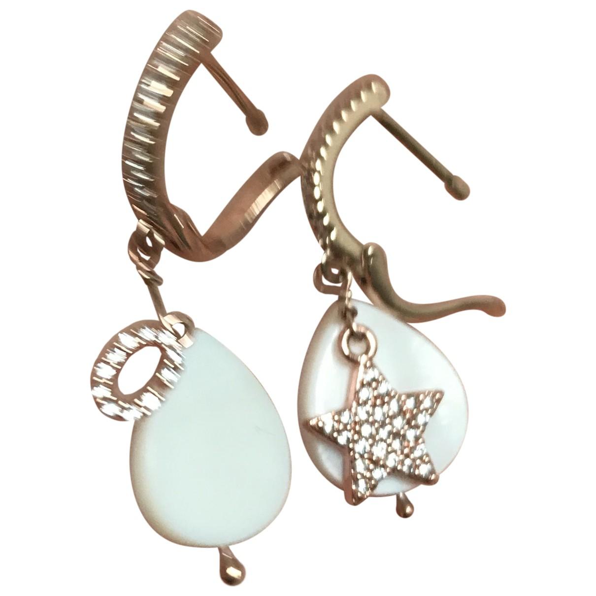 - Boucles doreilles   pour femme en argent - multicolore