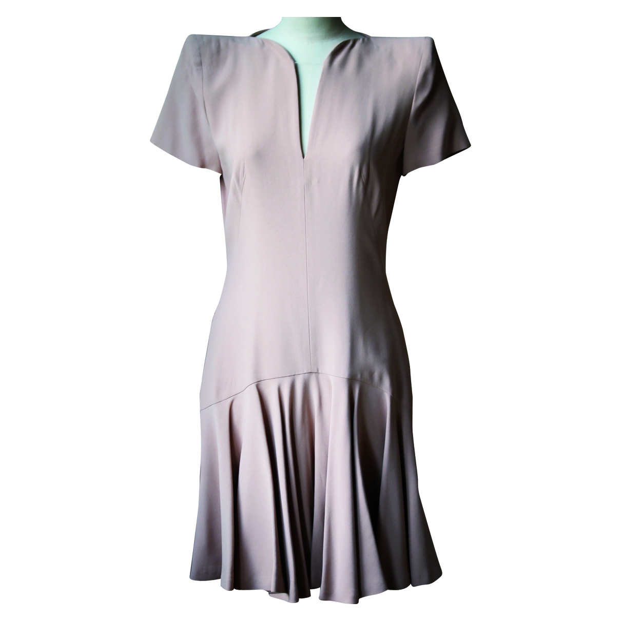 Mini vestido de Seda Alexander Mcqueen