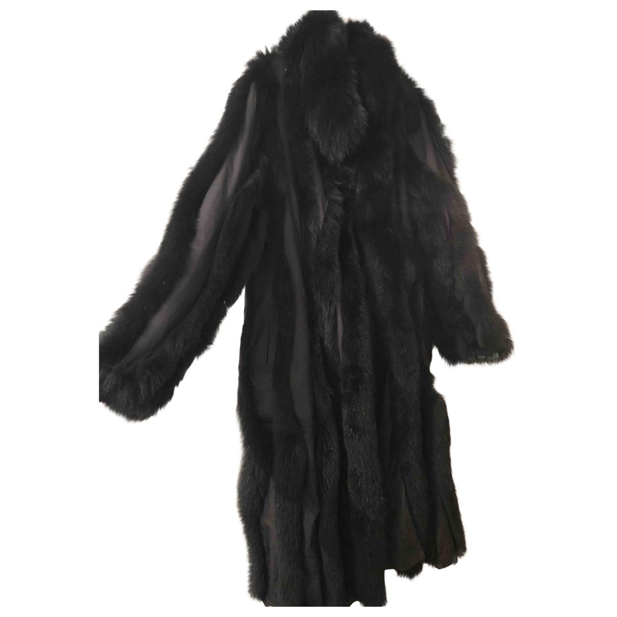 Yves Salomon - Manteau   pour femme en renard - noir