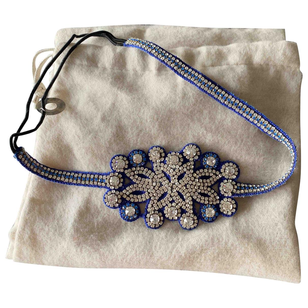 Deepa Gurnani \N Haarschmuck in  Blau Kunststoff