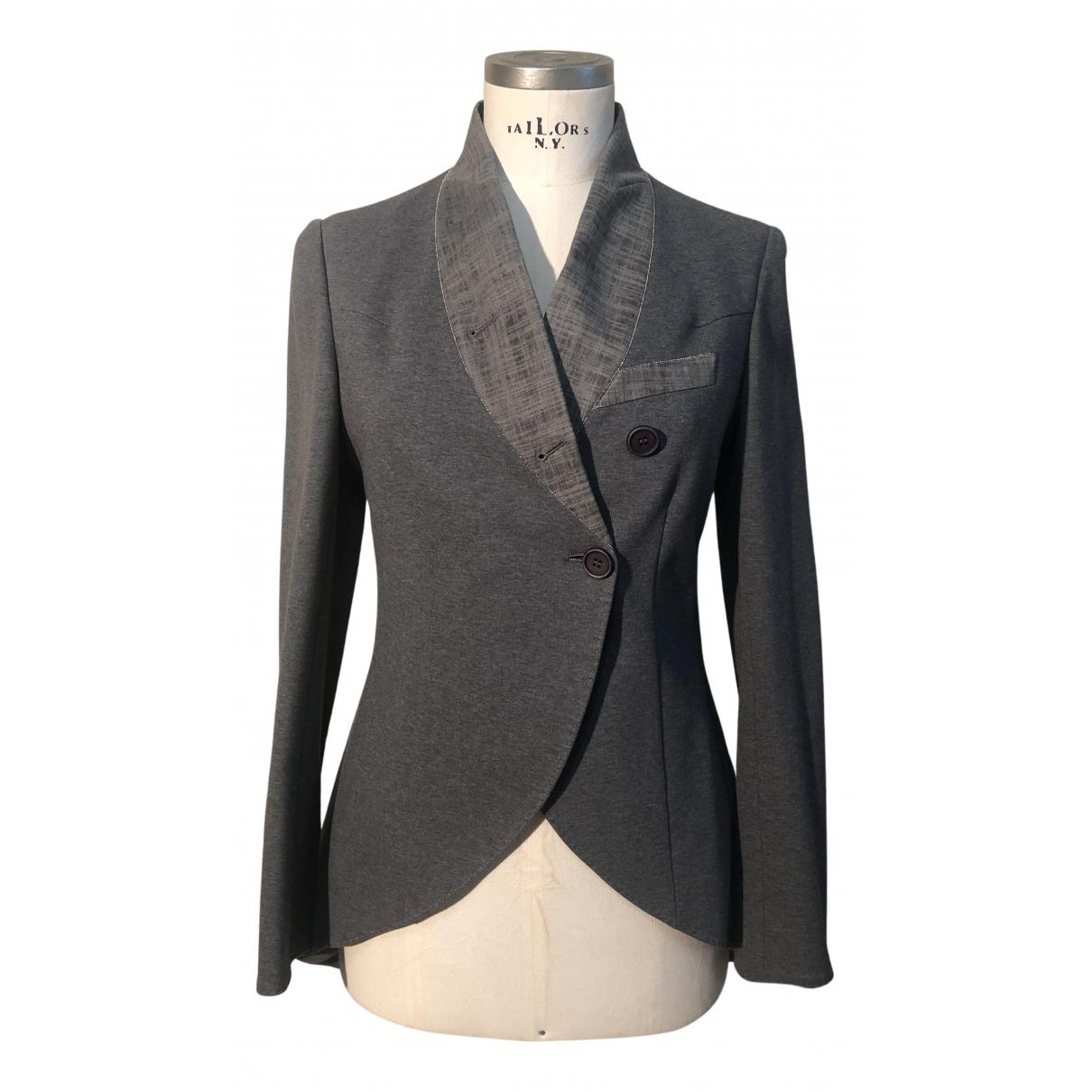 Brunello Cucinelli N Anthracite Cotton jacket for Women 42 IT