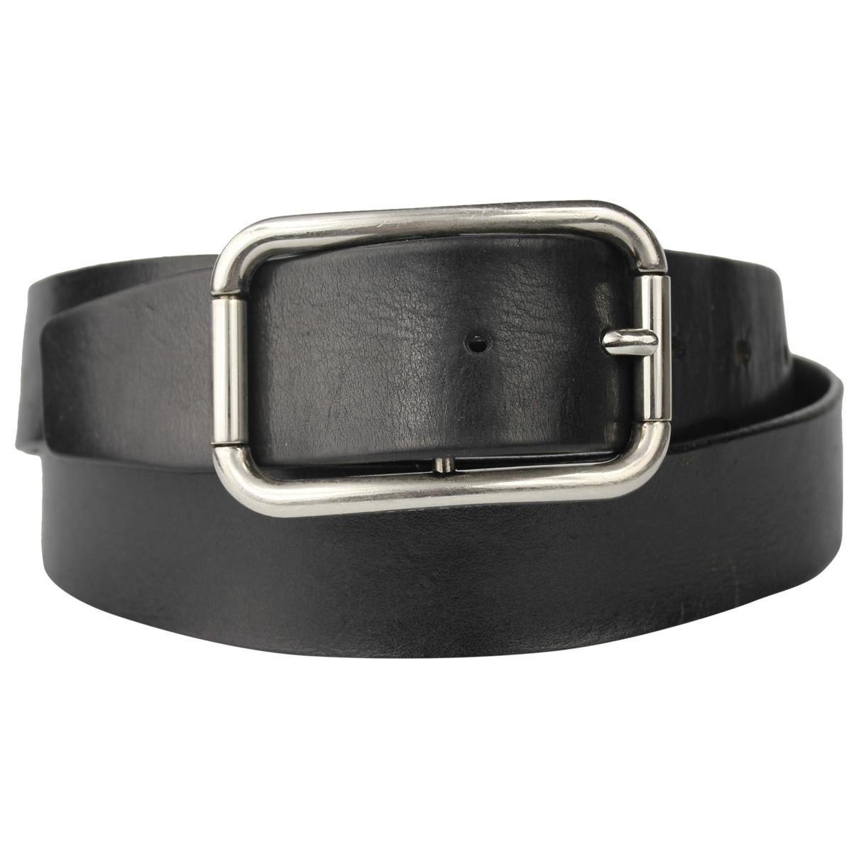 Dolce & Gabbana \N Black Leather belt for Men 100 cm