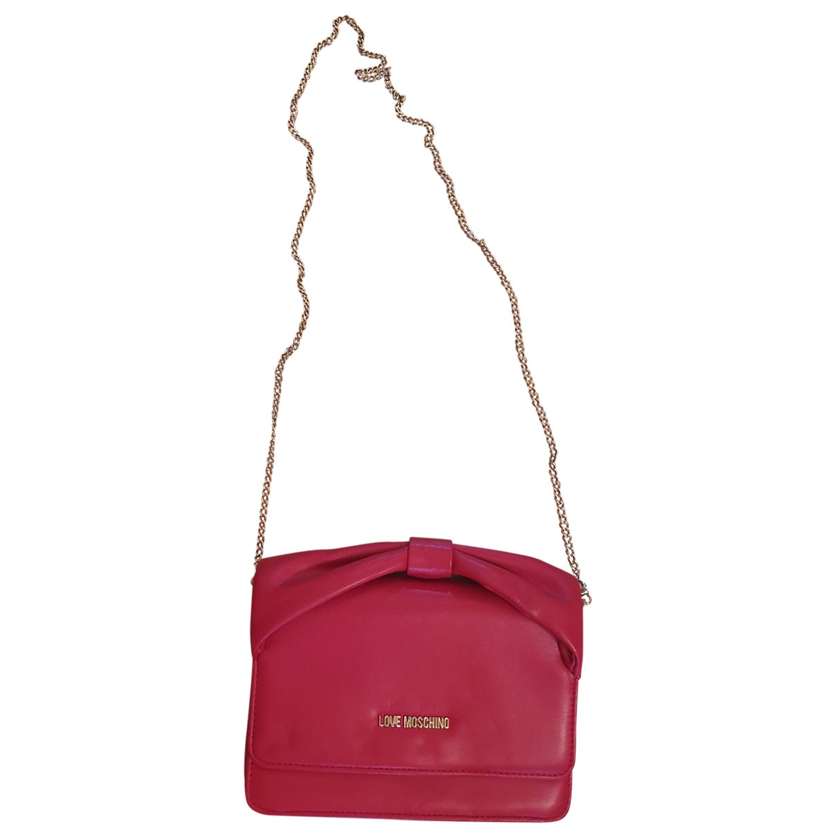 Moschino Love \N Clutch in  Rot Leder