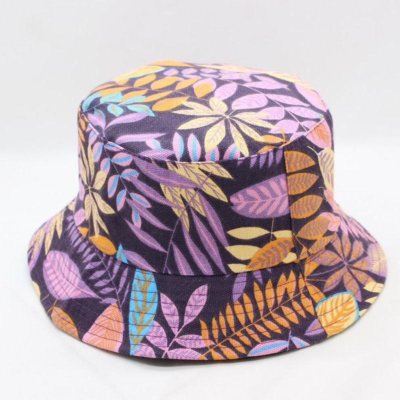 Printed Double-sided Visor With Foldable Cap Sunscreen Visor Fisherman Bucket Hat