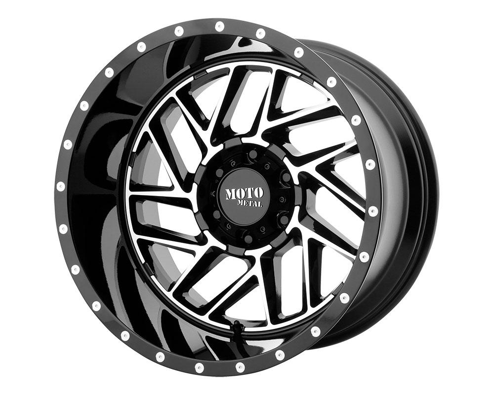 Moto Metal MO98529087318 MO985 Breakout Wheel 20x9 8x8x170 +18mm Gloss Black Machined