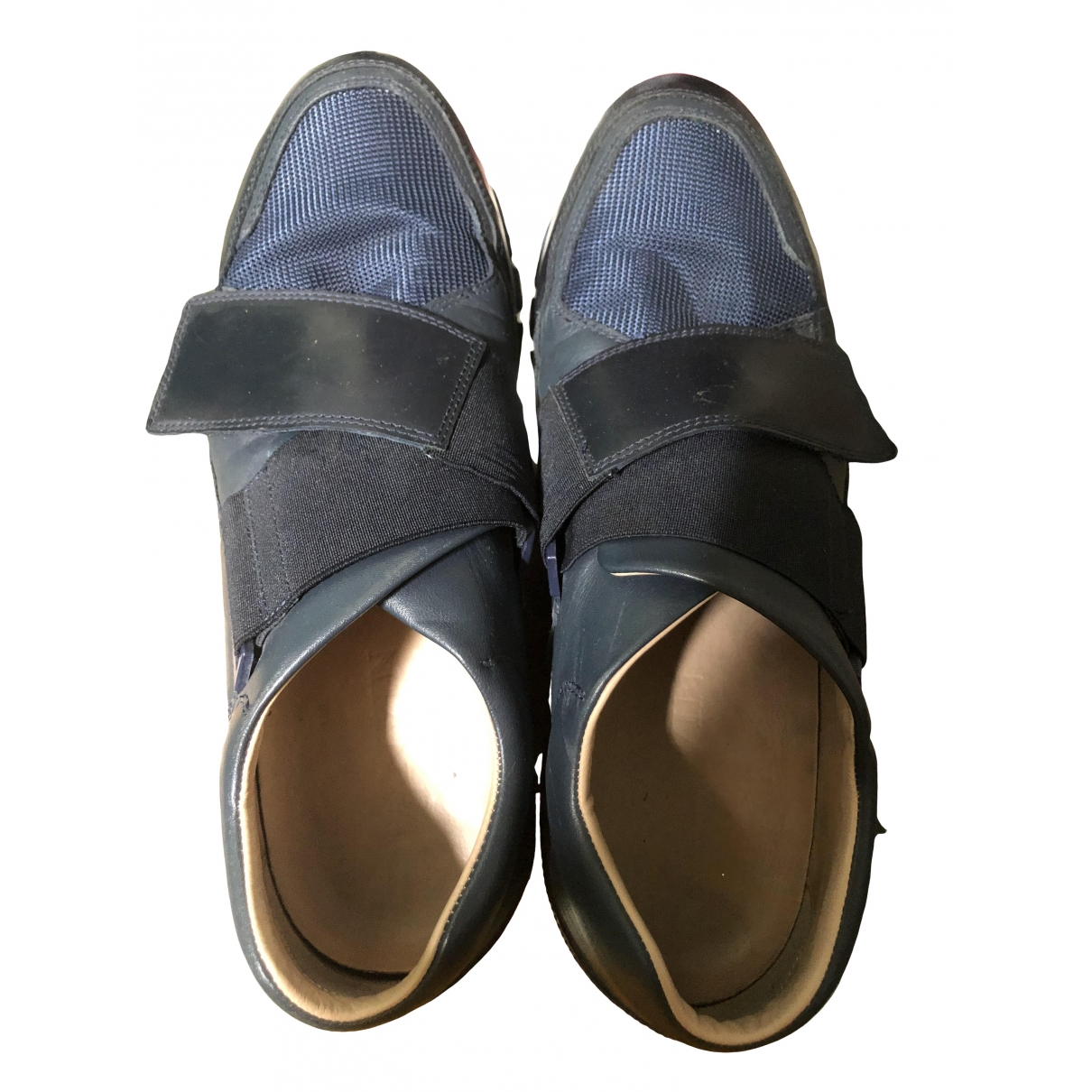 Lanvin \N Blue Leather Trainers for Men 10 US