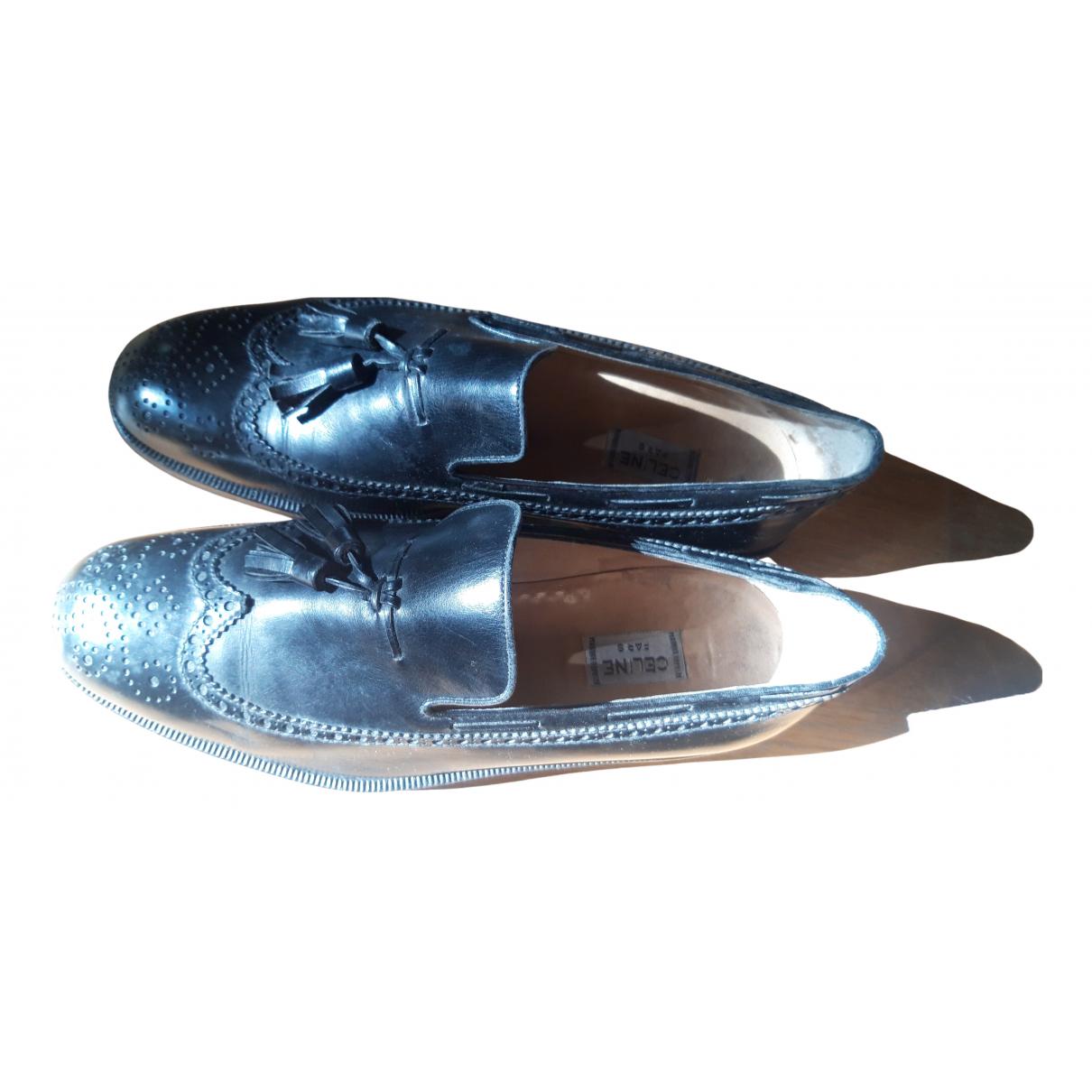 Celine N Black Leather Flats for Men 5.5 UK