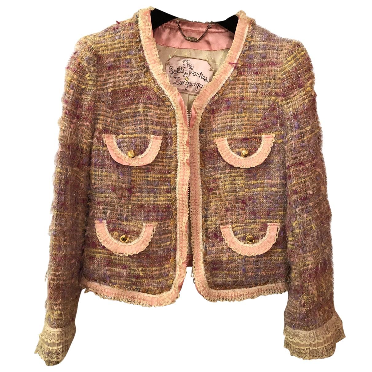 - Veste   pour femme en tweed - rose